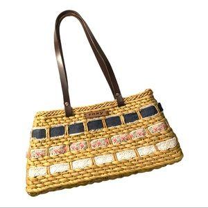 Roxy Basket Fabric Weave Purse